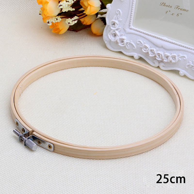 Bamboo hoop ring embroidery frame cross stitch accessory