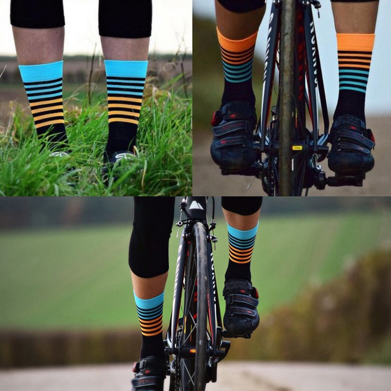 Bicycle Socks Breathable Outdoor Bike Racing Cycling Professional Sport 1 Pair
