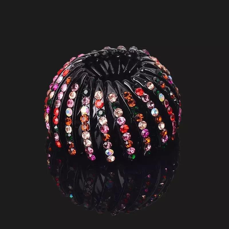 12Pcs Mini Rhinestone Flower Metal Hair Claw Clips Hair Pin For Girl YH