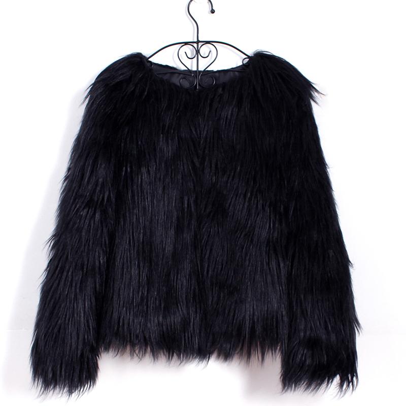 Fashion Warm Women Faux Fur Open Front Short Jacket Soft ...