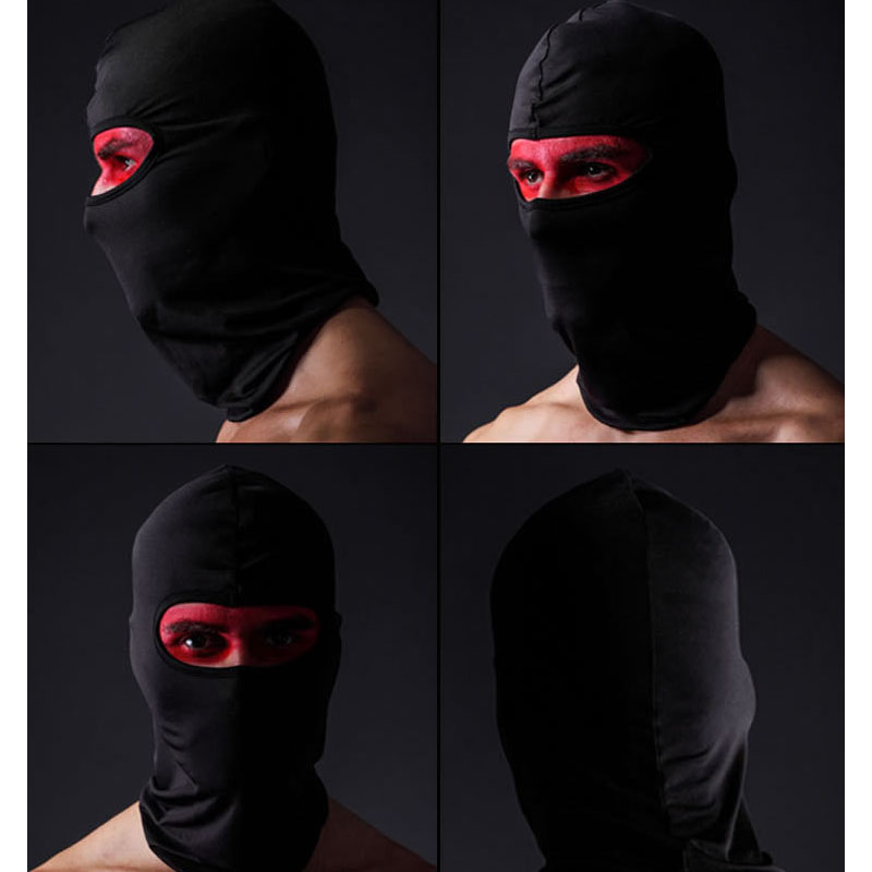 Men's Hats Outdoor Protection Full Face Mask Lycra Balaclava Headwear Ski Neck Cycling Motorcycle Mask Skullies Beanies Breathable Cap S703 Apparel Accessories