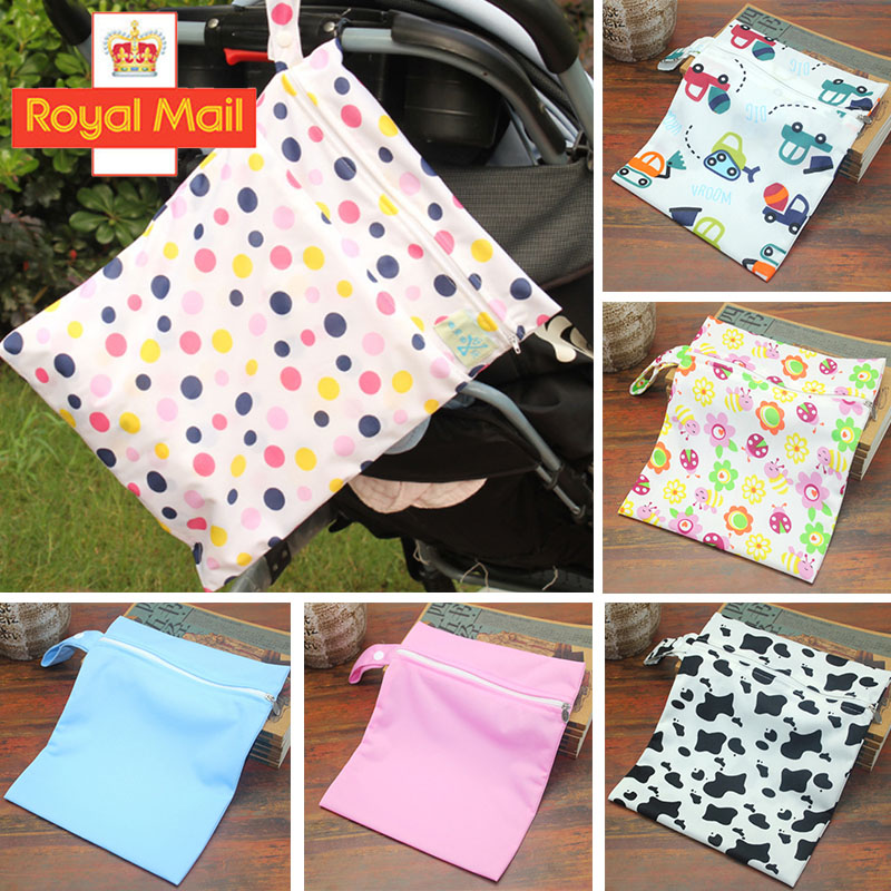 Baby Waterproof  Zip Wet Dry Bag for Infant Cloth Diaper Nappy Pouch Reusable