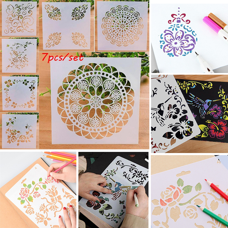 7pcs//Set Doily Edge Circles Metal Cutting Dies Stencil for DIY Scrapbooking