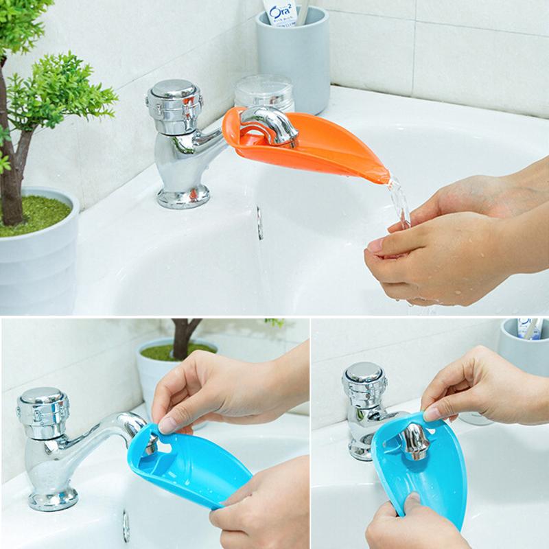 Water Faucet Tap Sink Extender Toddler Kids Hand Wash Sink Guider ...