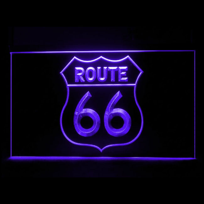120164 Route 66 US America Historic Federation Sign Road Highway LED Light Sign