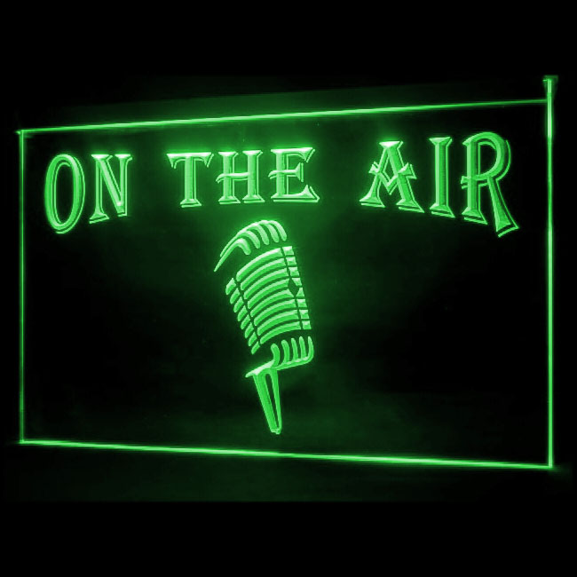 140119 Podcasting Live Joyful Microphone On The Air Display LED Light Sign
