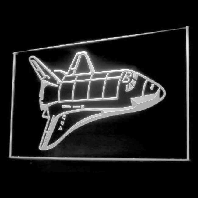 220046 Space Ship Alien UFO Mysteries Flying Saucer Fly Exhibit LED Light Sign