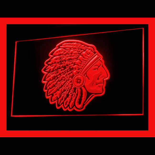 230072 Red Skin Indian Chief Head American Best Native Summoning LED Light Sign