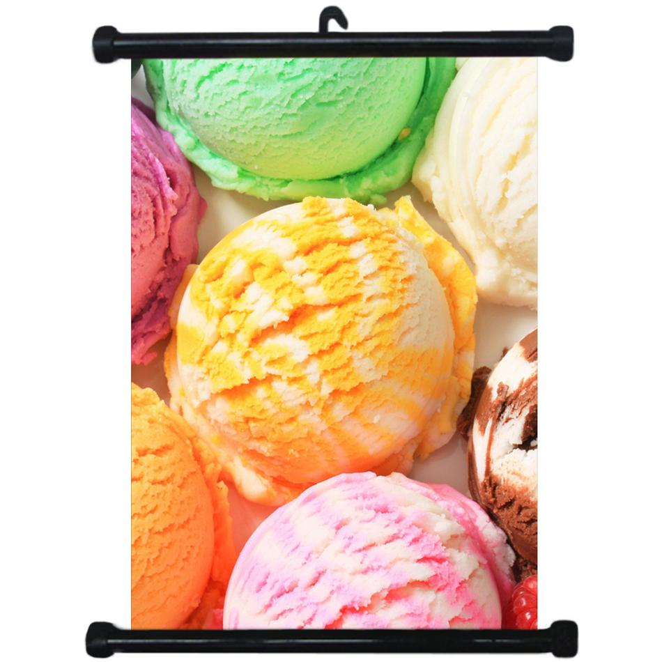 sp217102 Ice Cream Wall Scroll Poster For Desert Shop Decor Display ...