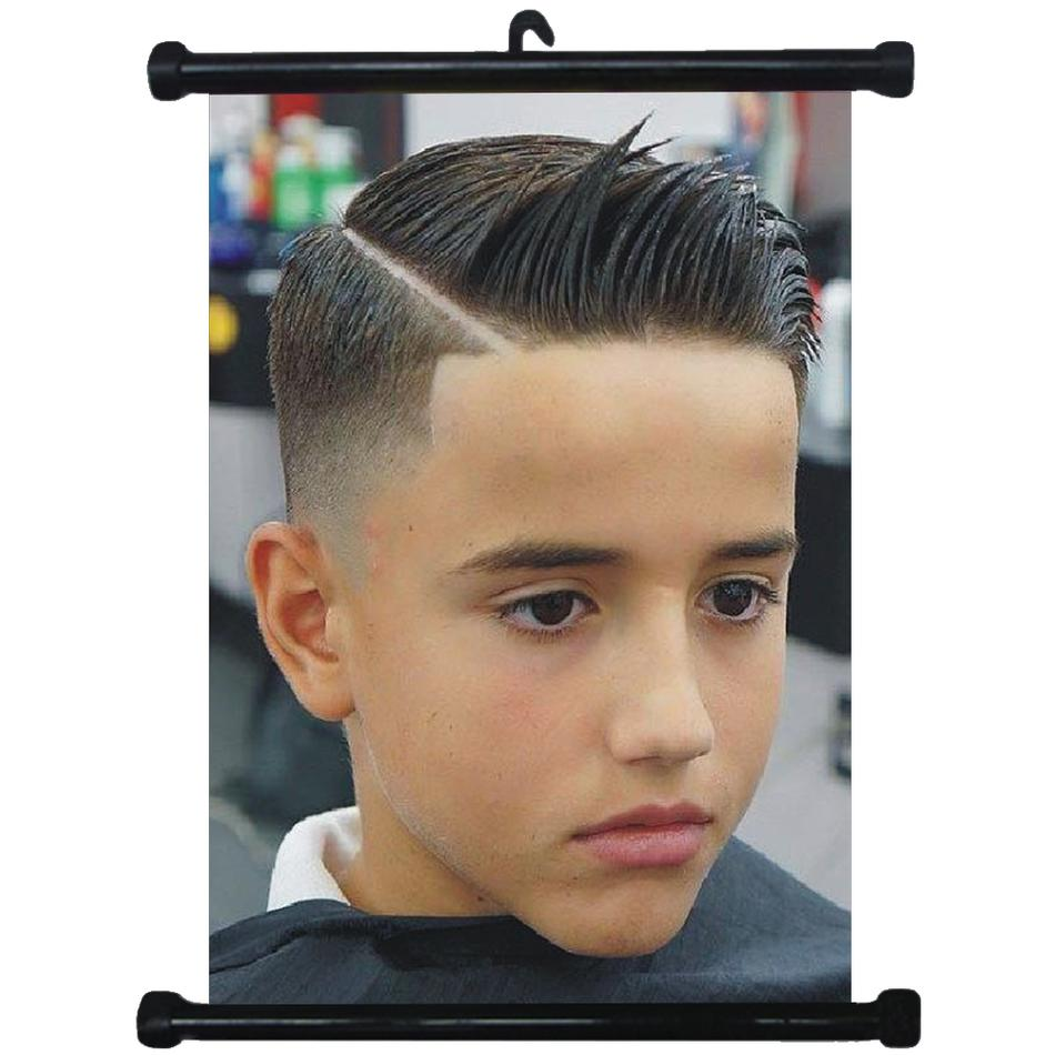 Details about sp217145 Boy Hairstyles Wall Scroll Poster For Barber Salon  Haircut Display