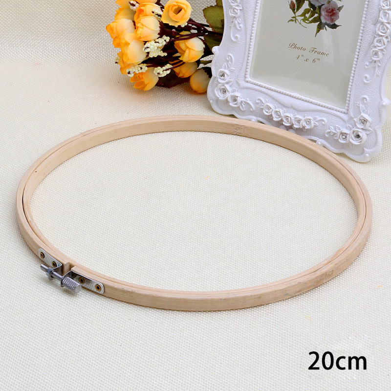 Wooden machine frame cross stitch hoop embroidery ring
