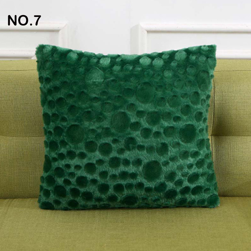 Fluffy Plush Throw Pillow Case Home Sofa Couch Decor Soft Cushion Cover 43x43cm