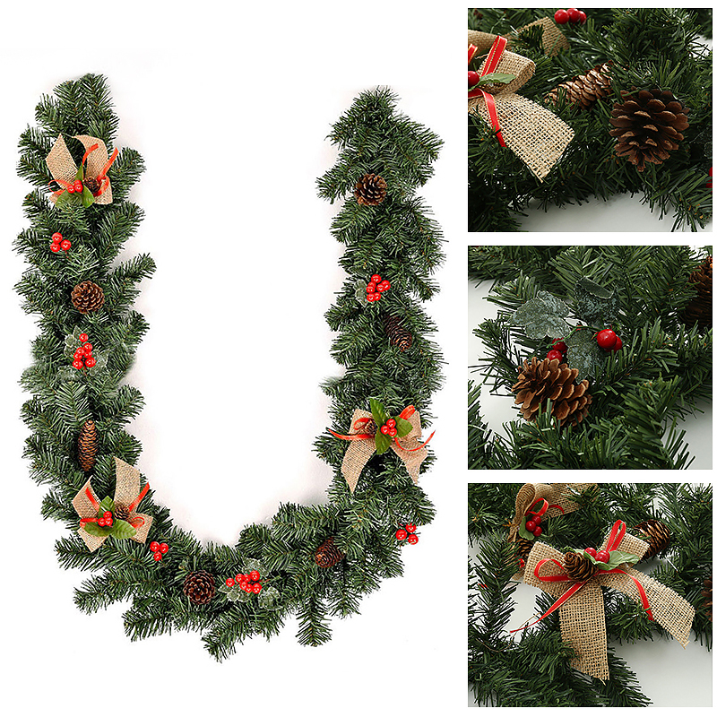 Details About 1 8m Christmas Decor Tinsel Rattan Ribbon Garland Supplies Diy Ornament Home New