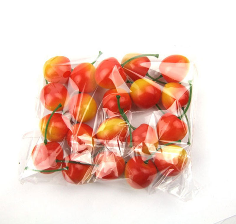 Artifical decor mini fake fruit plastic puzzle toy for Artificial cherries decoration