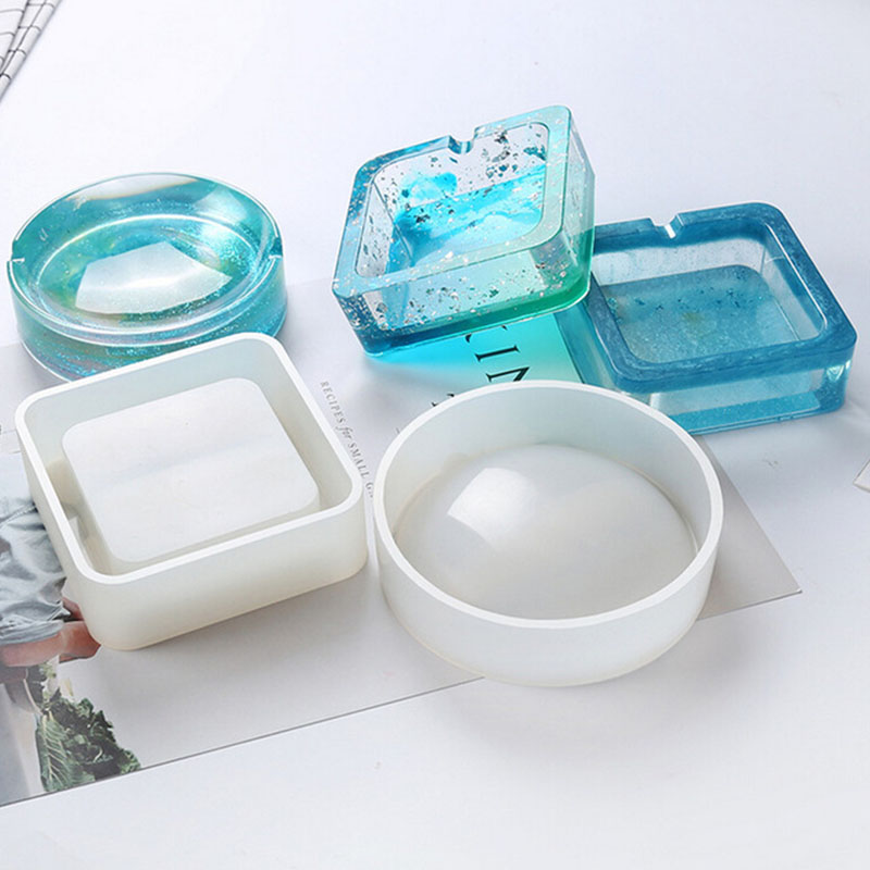 Multifunctional DIY Ashtray Mold Resin Crystal Silicone Making Hand Craft Mould