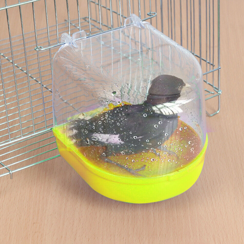 Bird Water Bath Tub Bowl For Pet Bird Cage Hanging Bowl