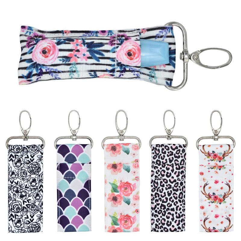 Lady Wave Lip Balm Key Ring Lipstick Chapstick Keychain Wristlet Bag Holder Gift