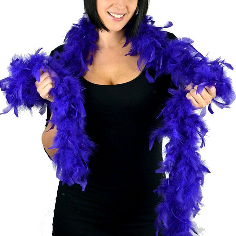 2M Various Color Natural Turkey Feather Boa Slim Evening Dress Clothing Shawl UK