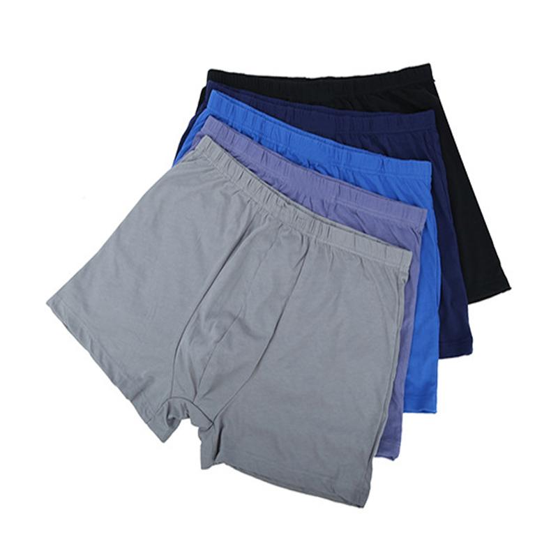 Männer Atmungsaktive Unterhose High Waist Boxer Briefs Unterwäsche Casual Cotton