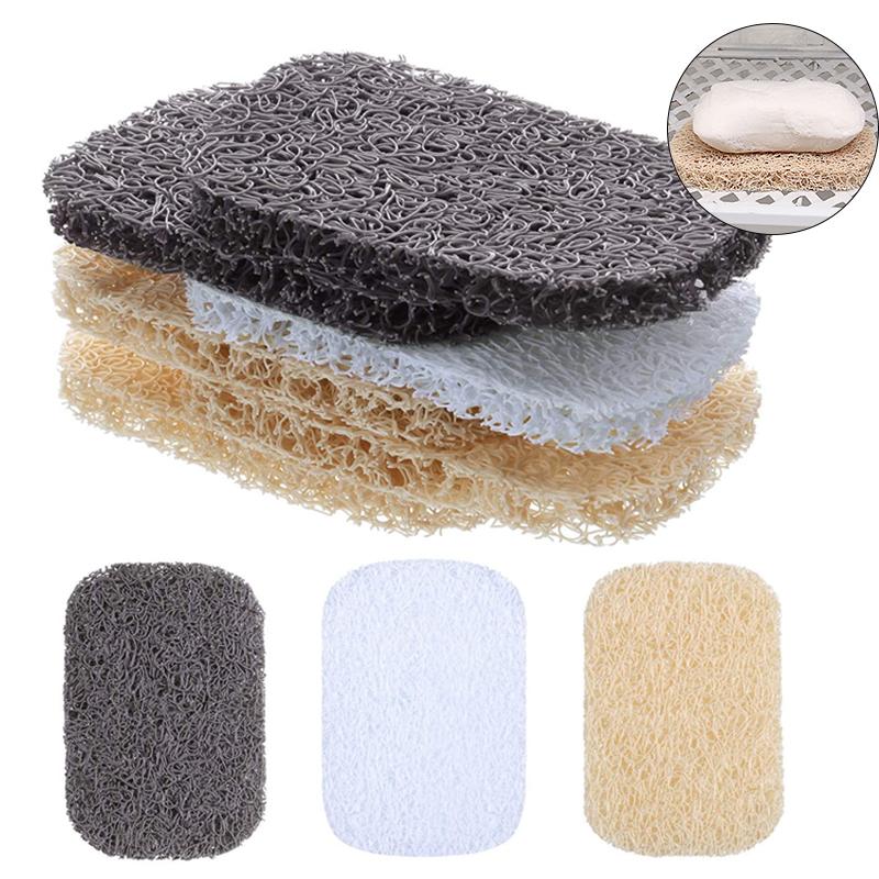 10pcs Shower Soap Bar Saver Lift Holder Dish Sponge Rack Tray Fast Dry Non-Slip