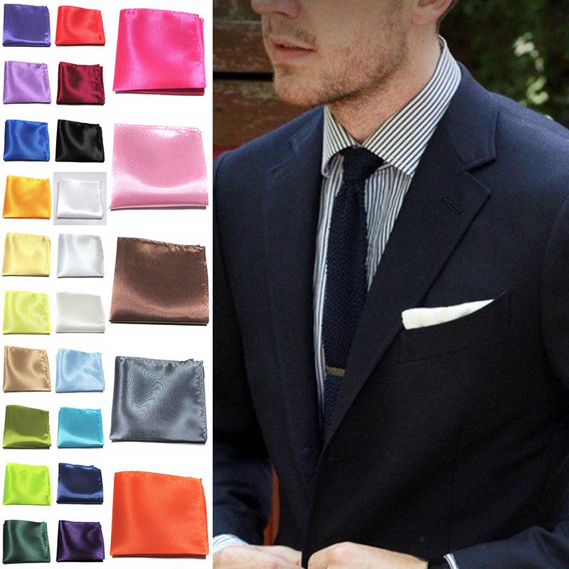 Korean Trendy Men Handkerchief Silk Hanky Pocket Square Paisley Wedding Party 1X