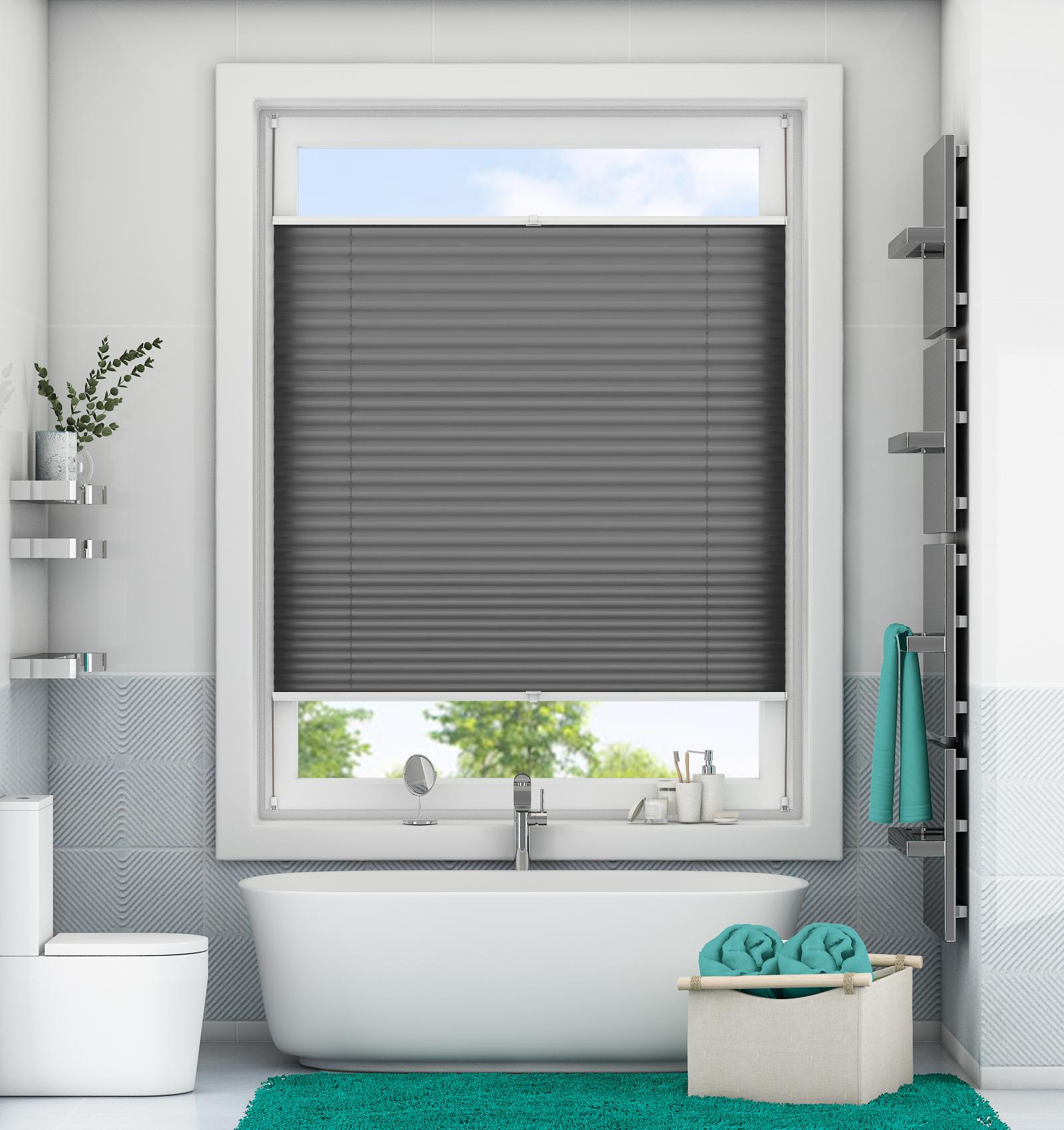 plissee klemmfix faltrollo ohne bohren jalousie verspannt rollo easyfix crush ebay. Black Bedroom Furniture Sets. Home Design Ideas