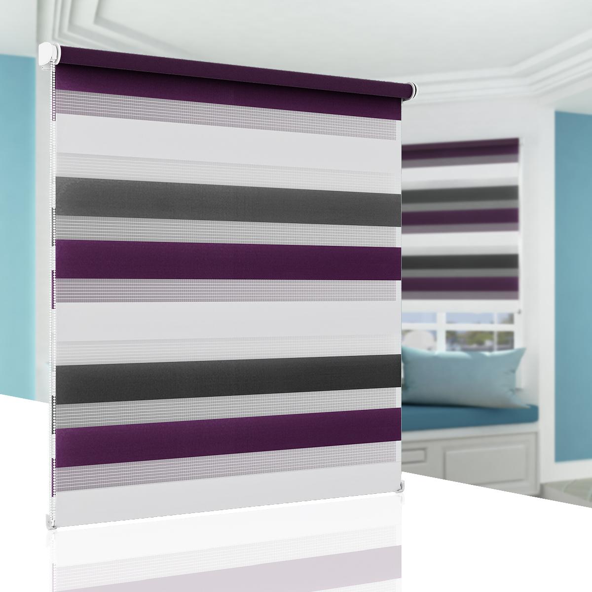 rollo doppelrollo klemmfix rollos f r fenster ohne bohren seitenzugrollo ebay. Black Bedroom Furniture Sets. Home Design Ideas