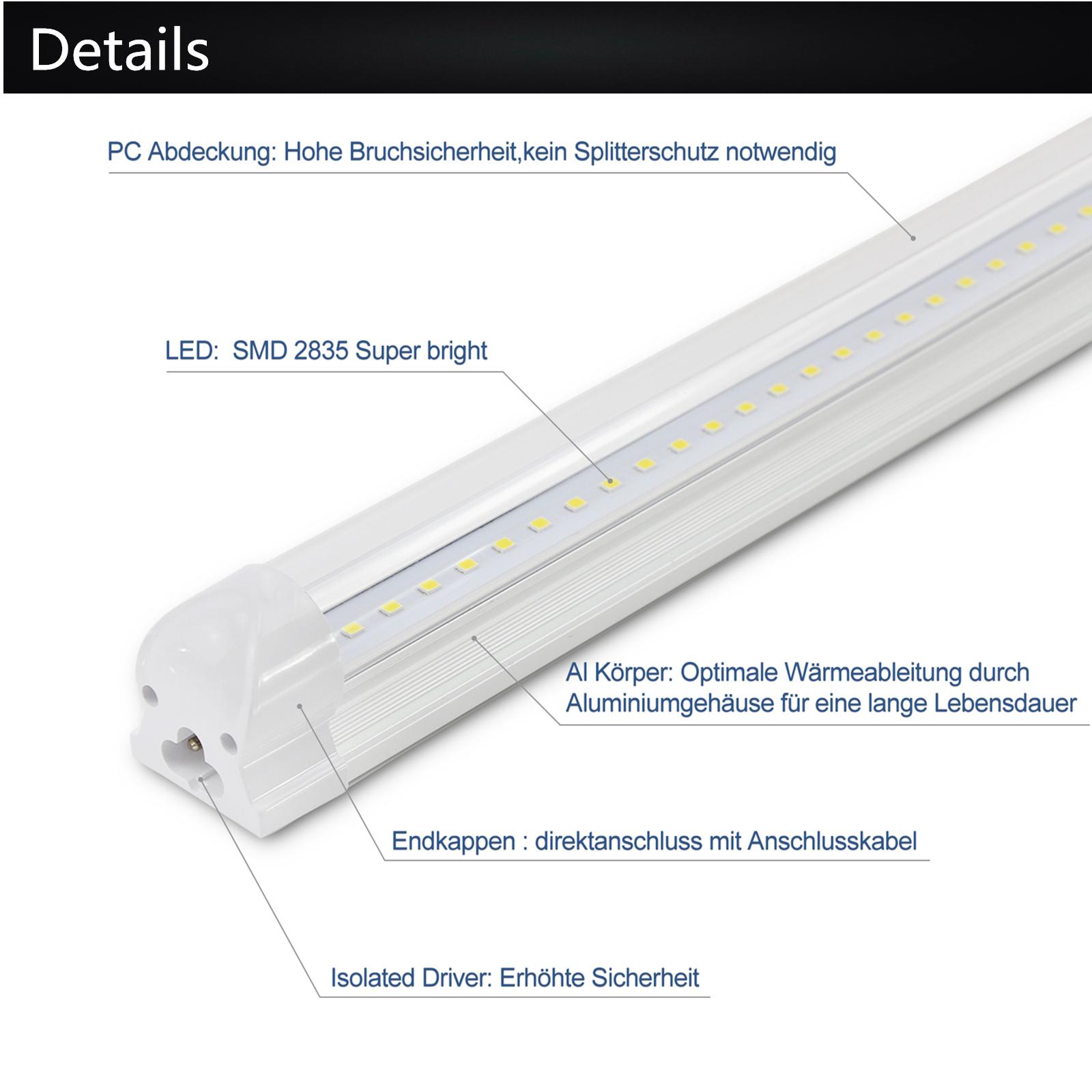 led r hre leuchtstofflampe mit t8 leiste leuchtstoffr hre tube komplett fassung ebay. Black Bedroom Furniture Sets. Home Design Ideas