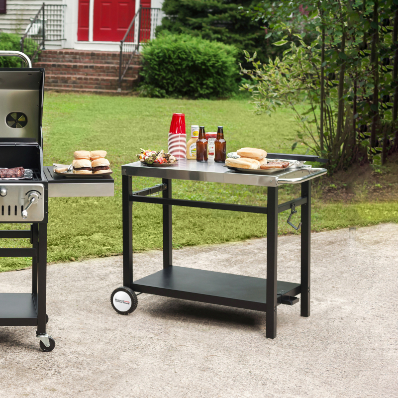 outdoor kitchen cart antique kitchen picture royal gourmet bbq work table outdoor kitchen prep cart stainless