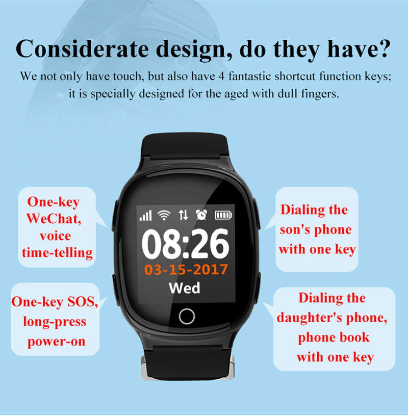2018 smartwatch sos anruf gsm telefonieren lbs wifi gps. Black Bedroom Furniture Sets. Home Design Ideas