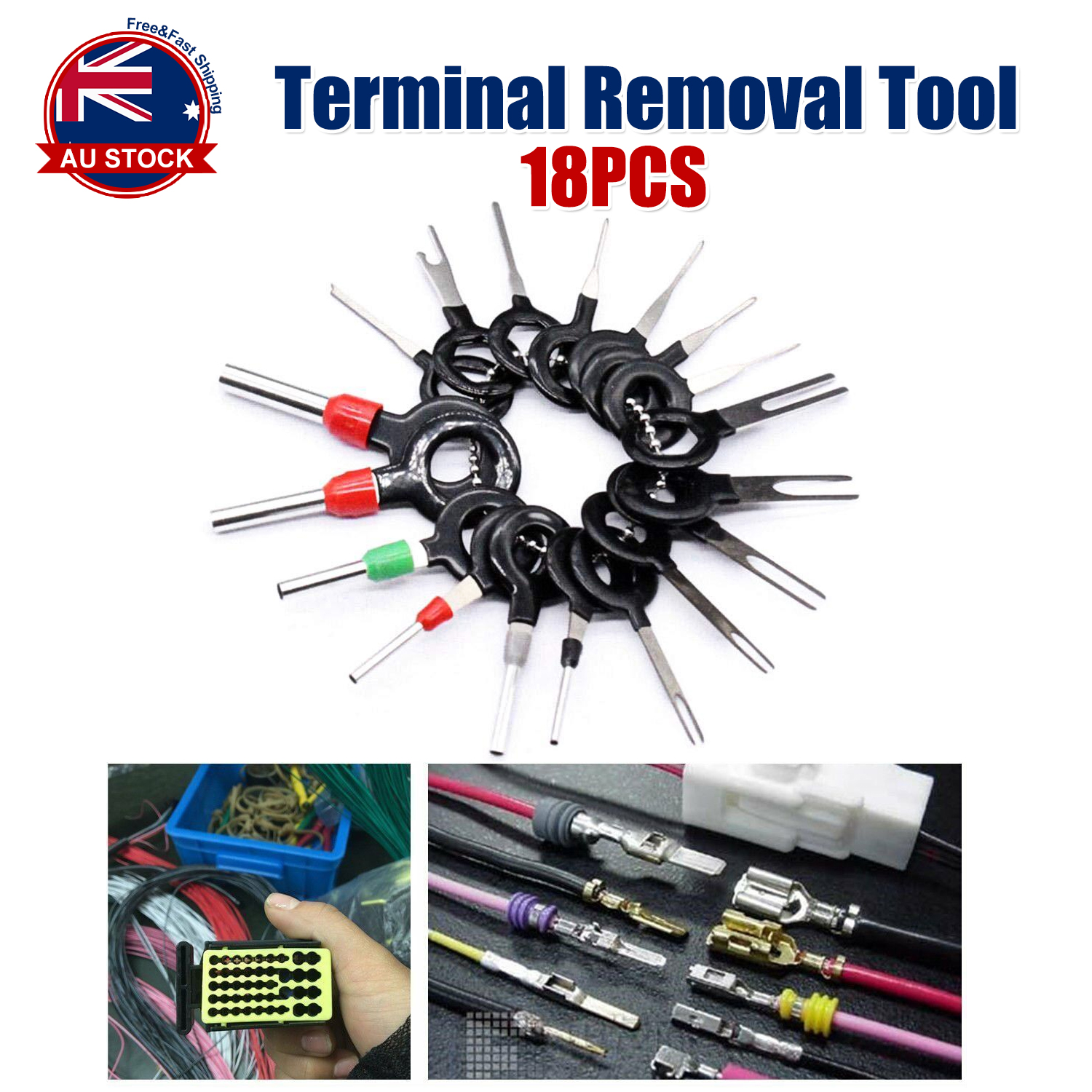 18x Connector Pin Extractor Terminal Removal Tool Car Electrical Wiring Crimp