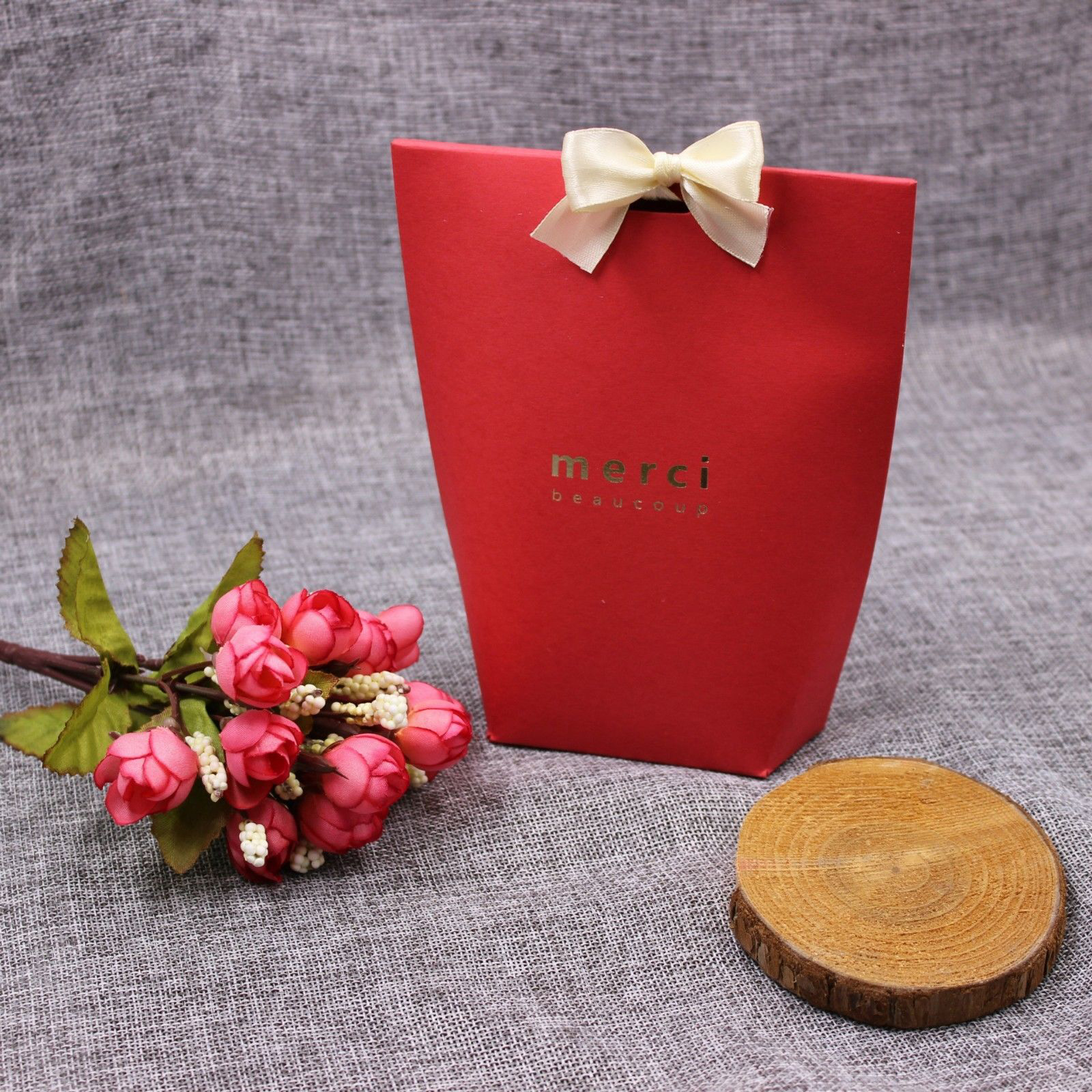 50X Merci Beaucoup Elegant Party Paper Wedding Favour Gift Sweets