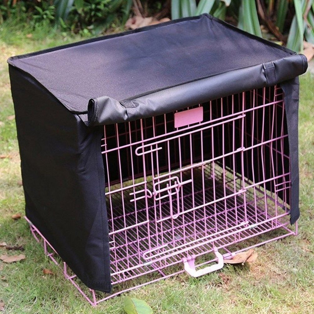 Pet dog cat cage cover waterproof dustproof pet crate for Outdoor dog crate cover