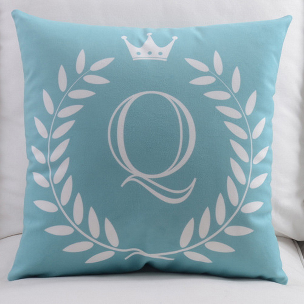 18-034-Monogrammed-26-Initial-letter-Pillow-Case-