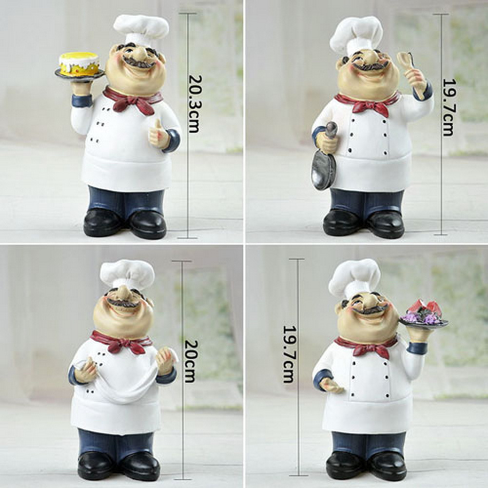 Cooking chef with cake figurine figure statue kitchen