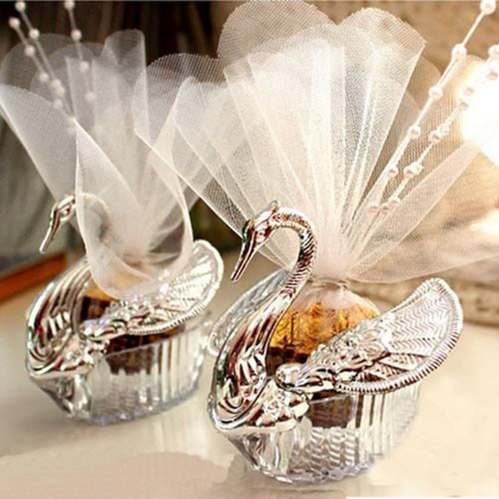 50Pcs Swan Candy Boxes Wedding Favors Gifts Box ER | eBay