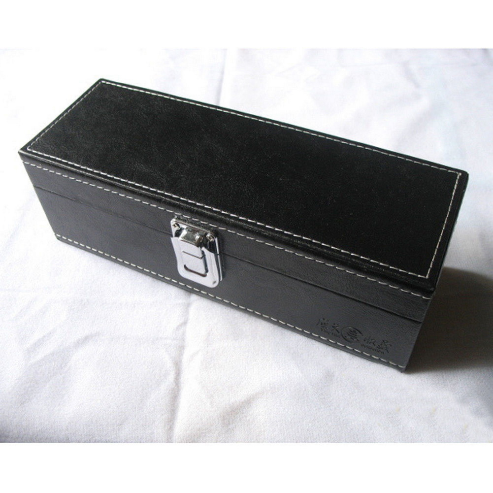 Pu leather coin storage case security display box safe for Money storage box
