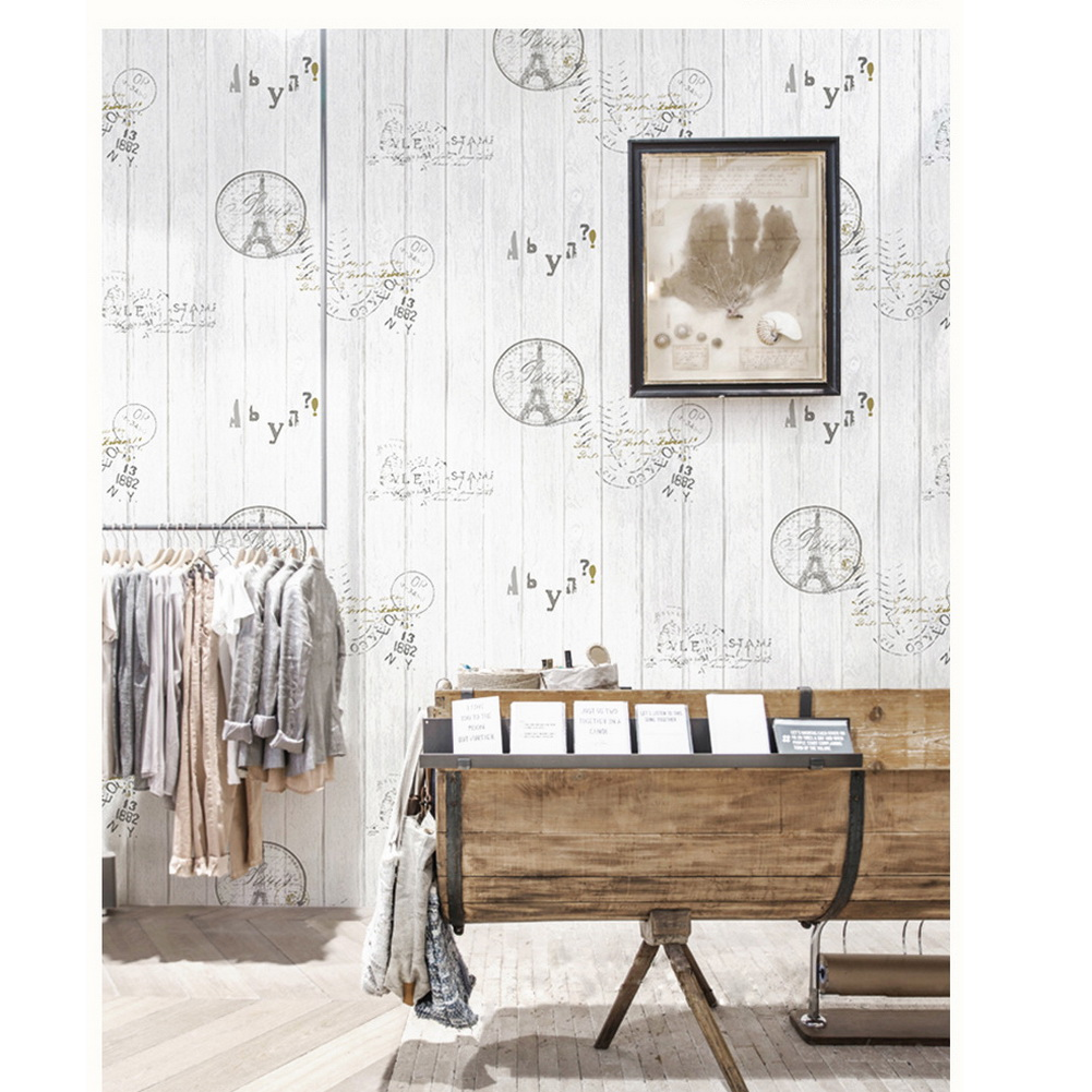 Real wood pvc waterproof vinyl background wallpaper wall for Waterproof wallpaper for walls