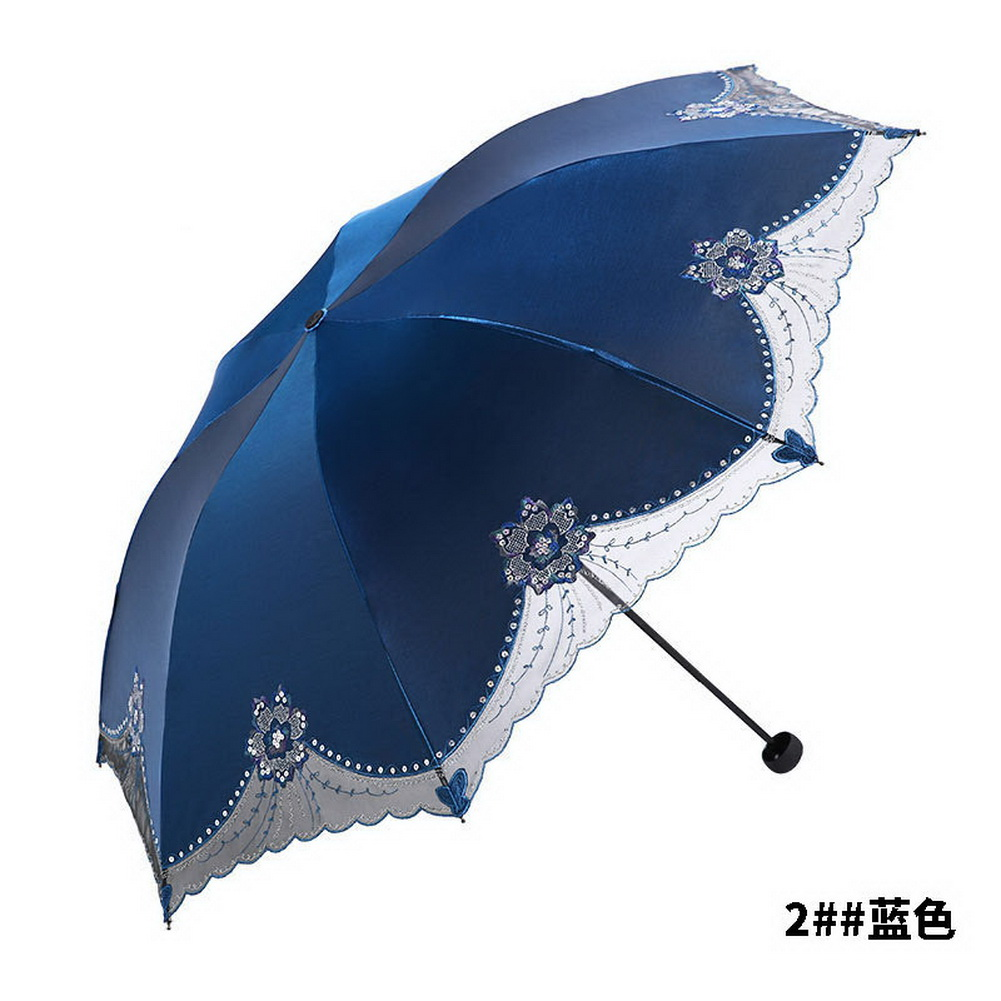 womens super windproof anti uv parasol sun rain protection folding umbrella op ebay. Black Bedroom Furniture Sets. Home Design Ideas
