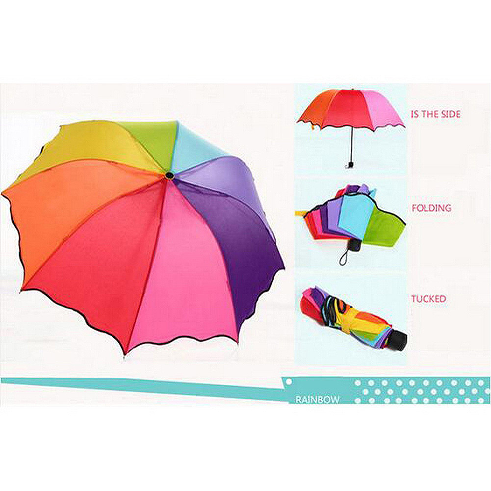 fashion colorful anti uv parasol flower 3 folding sun rain windproof umbrella zx ebay. Black Bedroom Furniture Sets. Home Design Ideas