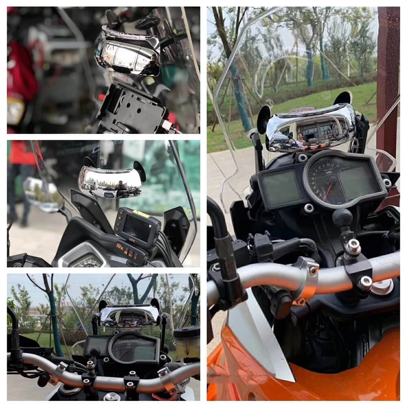 Scooter Motorcycle 180/° Wide Angle Blind Spot Mirror Rear View Auxiliary Mirror For Motorcycles Rear Mirror