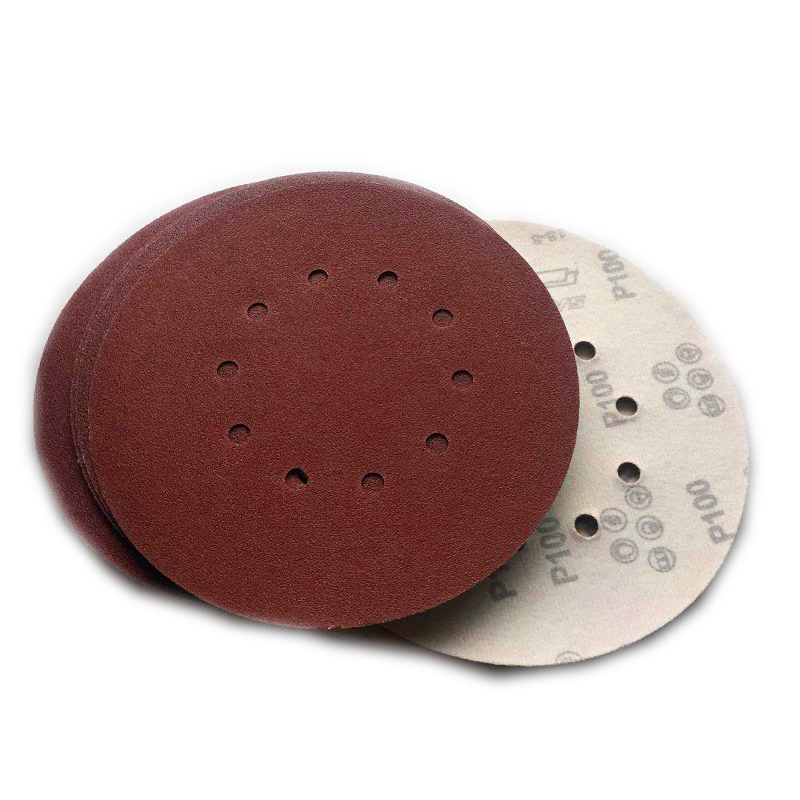 9 Inch 10 Hole 80 Grit Sanding Discs Sandpaper for Drywall Sander 10 Pack Parts