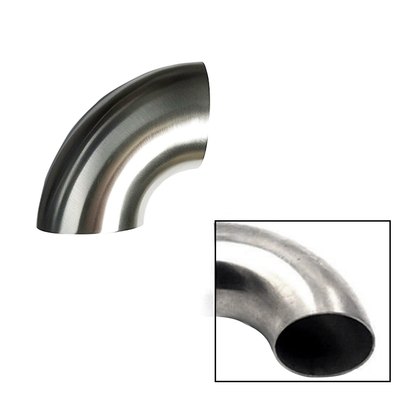 63mm Thickness 1mm Material 201 Car Modified Exhaust Pipe Stainless Steel Elbow 90/° Diameter 2.5 inch