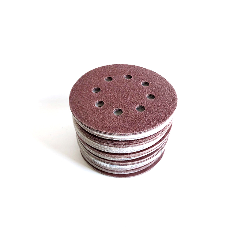 5 Inch 50pcs Hook And Loop 80,120,180,240,320 Grit Sand Paper Sanding Discs