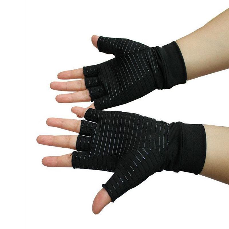 No-slip Cycling Climbing Sports Racing Half Finger Semi silica Gloves S//M//L 2pcs