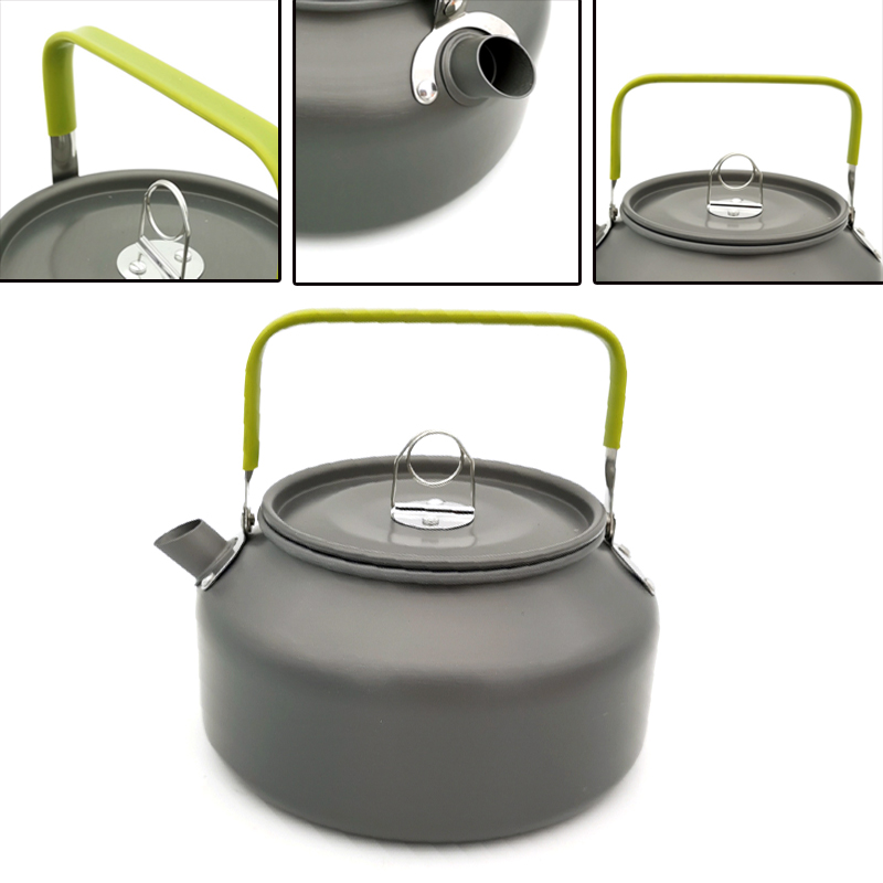 Stainless Steel Stove Top Kettle Camping Kettle Teapot Coffee Pot Indoor Outdoor Camping Hiking Picnic,1.2L