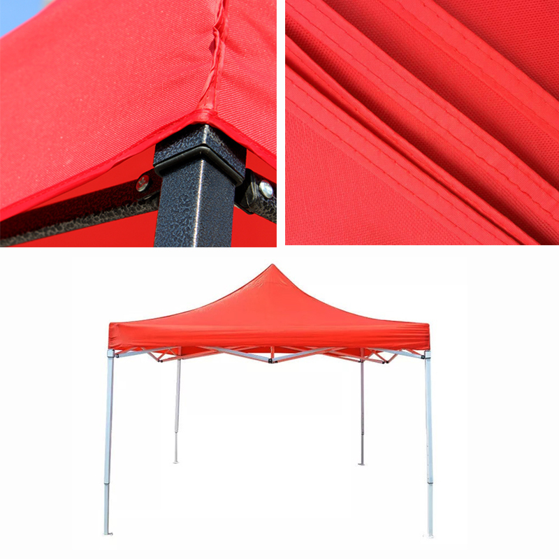 Sun Proof Garden Gazebo Top Cover Replacement Tent Canopy Oxford Red 2.9x2.9m