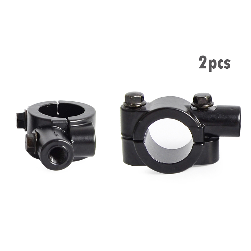 Motorcycle Handle Bar Mirror Mount Holder Clamp Adaptor 7//8/'/' 10mm M10 Bolt New