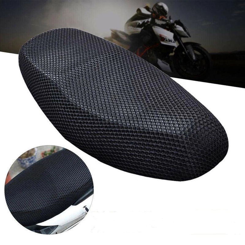 Motorcycle Black 3D Seat Cover Net   Heat Insulation Sleeve Anti-slip