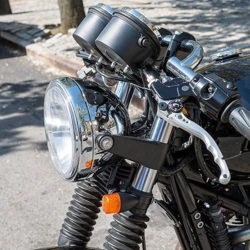 1 Pair 39mm Aluminum Alloy Motorcycle Motorbike Headlight Fork Mounting Brackets Suuonee Forks Bracket Black